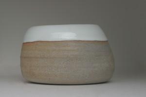 Granite Clay with Glossy White Glaze