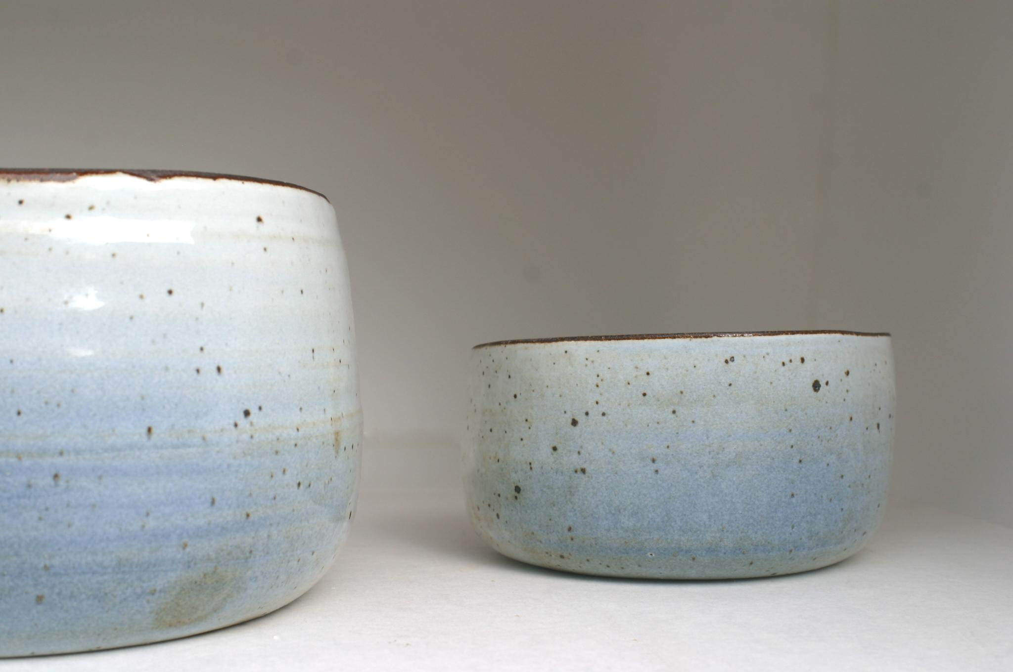airbrushed blue glaze