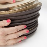 hand-thrown on potter's wheel