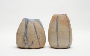 Hastings vase_blue drip