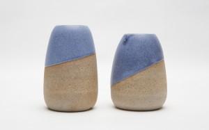Hastings vase_blue top glaze