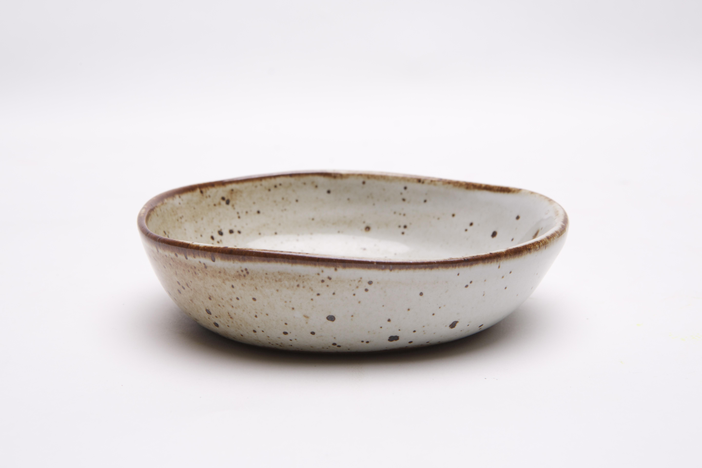 glossy white baby bowl