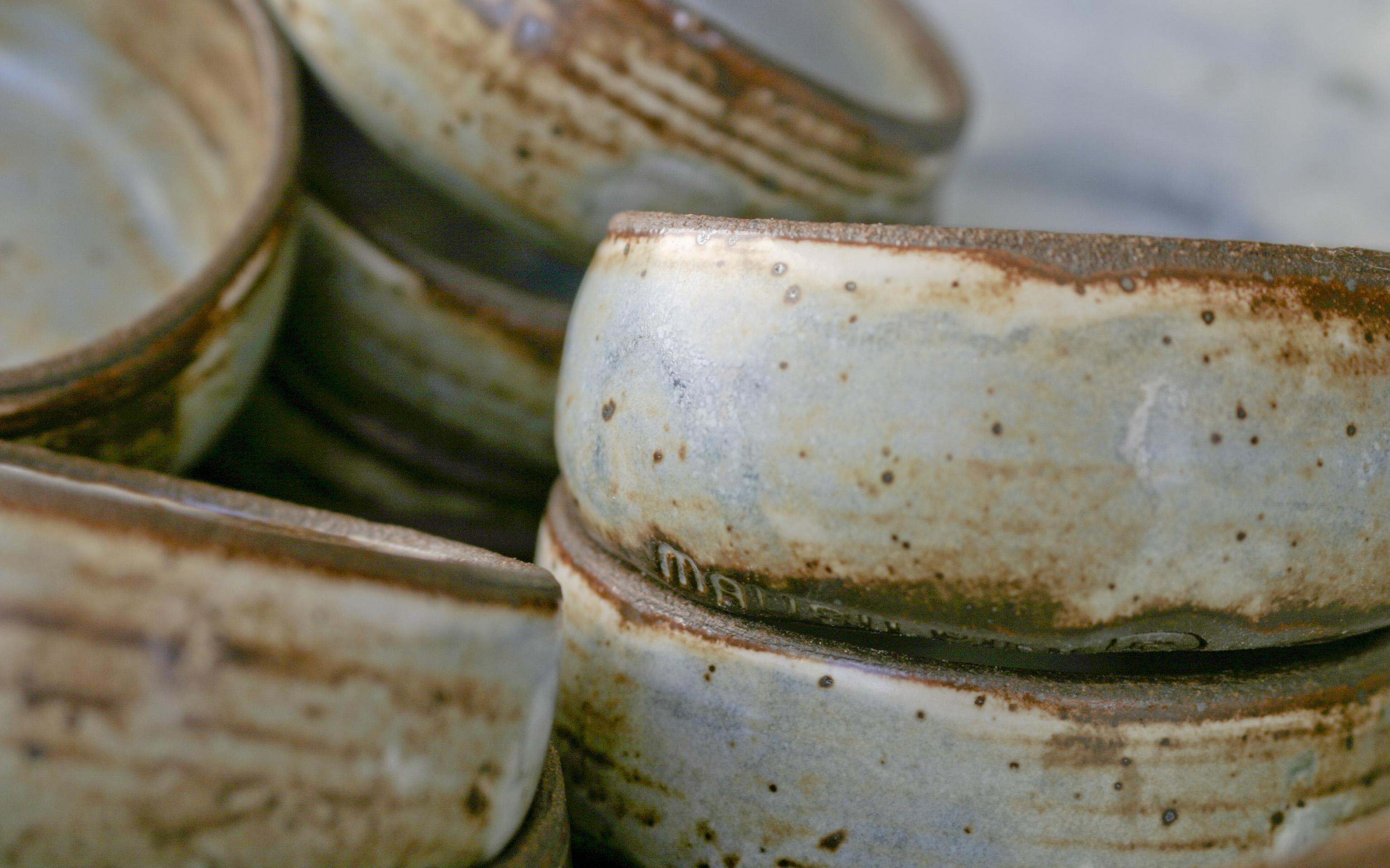 stacks of mini blue bowlsstamp